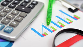 市场分析概念 免版税库存照片