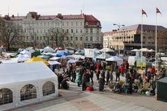 市场和节日致力于冬天的终止 库存图片