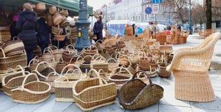 市场和节日致力于冬天的终止 库存照片