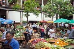 市场在丰沙尔,马德拉岛 库存照片