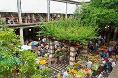 市场在丰沙尔,马德拉岛 免版税图库摄影