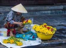 市场在会安市越南 免版税库存图片