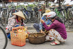 市场在会安市,越南 免版税库存照片