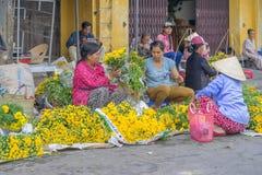 市场在会安市,越南 库存照片