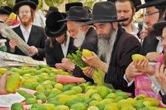 市场在假日Sukkot前 免版税库存照片