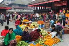 市场在加德满都,尼泊尔 库存照片
