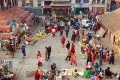 市场在加德满都,尼泊尔 库存图片