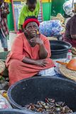 市场在加纳 免版税库存照片