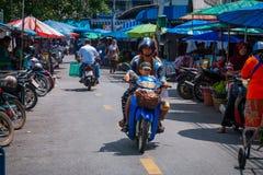 市场在合艾,泰国 免版税库存图片