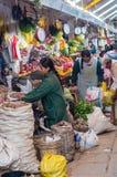 市场在库斯科,秘鲁 免版税库存照片