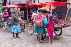 市场在库斯科,秘鲁 免版税库存图片