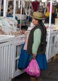 市场在库斯科,秘鲁 图库摄影