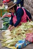 市场在库斯科,秘鲁 库存图片