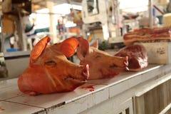市场在库斯科-秘鲁 免版税库存照片