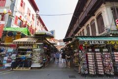 市场在新加坡的唐人街遗产中心 库存图片