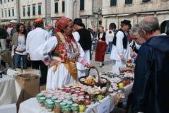 市场在杜布罗夫尼克,克罗地亚 免版税图库摄影