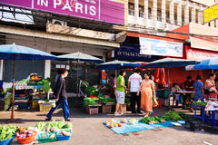 市场在清迈,泰国 库存照片