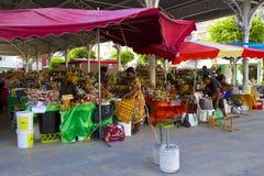 市场在瓜德罗普,加勒比 免版税图库摄影