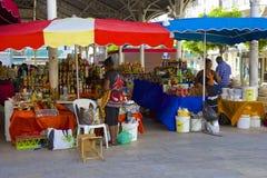 市场在瓜德罗普,加勒比 免版税库存照片