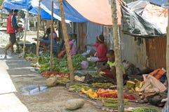 市场在瓦梅纳,巴布亚省 印度尼西亚 免版税库存照片