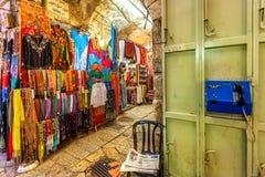 市场在耶路撒冷,以色列耶路撒冷旧城  库存照片