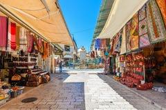 市场在耶路撒冷,以色列耶路撒冷旧城  免版税图库摄影