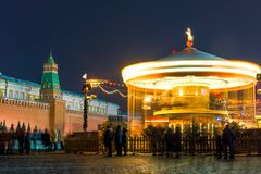 市场在莫斯科的中心在克里姆林宫附近的 免版税库存照片