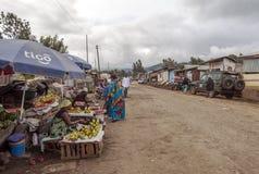 市场在阿鲁沙 免版税库存图片