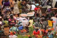 市场在贝宁,非洲 免版税库存图片