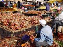 市场在贝尼迈拉勒 库存图片
