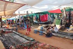 市场在Arpora,印度,北部果阿 免版税库存图片
