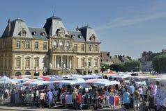 市场在Autun 免版税图库摄影