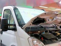 市场在Corferias 亦称汽车展览厅`沙龙del automovil `访客看见的地方 免版税库存图片