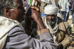 市场在Hawzien,提格雷,埃塞俄比亚 图库摄影