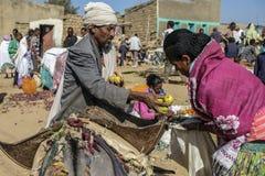 市场在Hawzien,提格雷,埃塞俄比亚 免版税库存照片