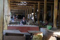 市场在Wonosobo 免版税库存图片