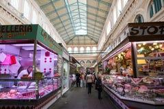 市场大厅在里窝那,意大利 库存照片