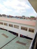 市场大厦在东乌干达非洲 免版税图库摄影