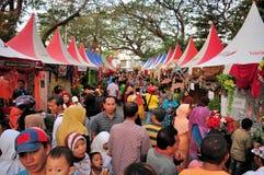 市场失去作用在Madura公牛种族,印度尼西亚 免版税库存图片
