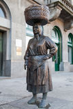 市场妇女雕象克罗地亚的 免版税图库摄影