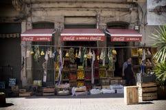 市场店面和产物立场 免版税库存照片