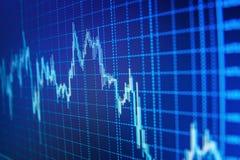 市场或外汇贸易的图表和烛台绘制适用于图表金融投资概念 免版税图库摄影