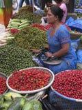 市场摊位加德满都尼泊尔 库存照片