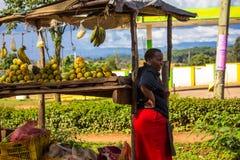 市场摊位在肯尼亚 免版税库存图片