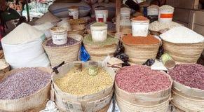 市场摊位在阿鲁沙 库存照片