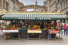 市场摊位,布拉格 库存图片