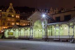 市场柱廊, Karlovy变化; 捷克共和国 免版税库存图片