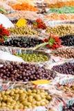 市场橄榄开张 免版税库存照片
