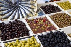 市场每周橄榄的界面 免版税库存图片