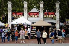 市场波特兰星期六 库存图片